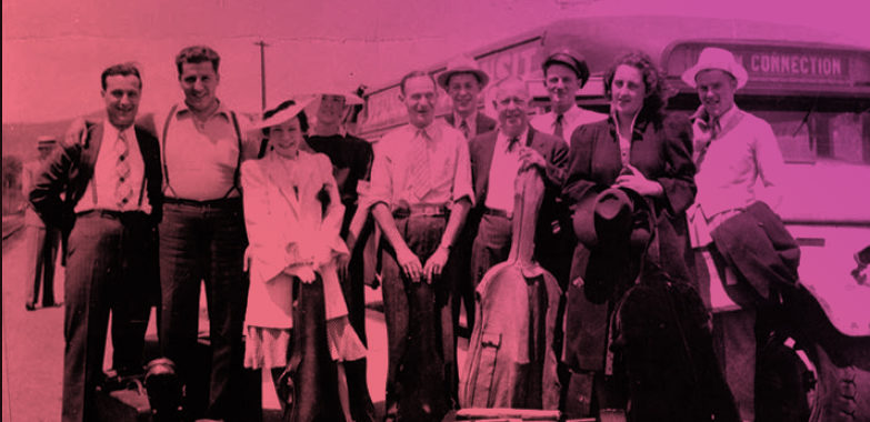 VSO musicians arrive at the 1939 World's Fair