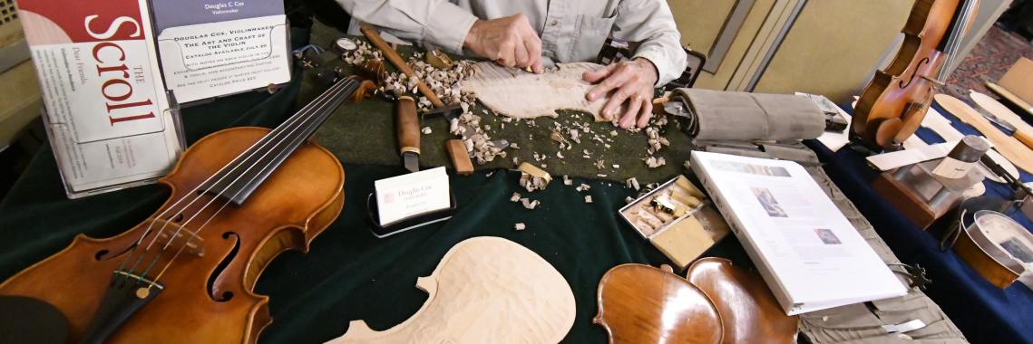 VSO Violinmaker-in-Residence at Work