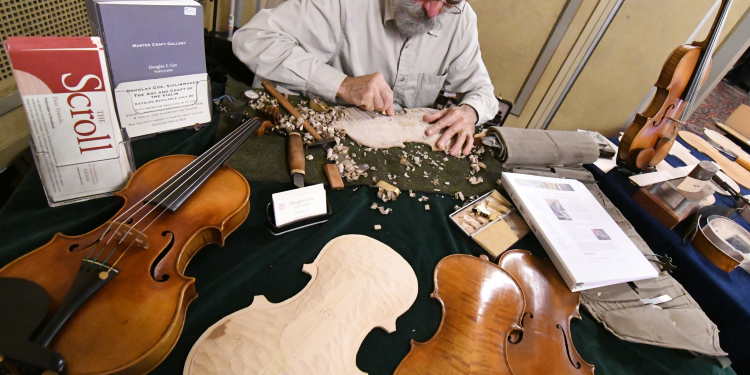 VSO Violinmaker-in-Residence at Work