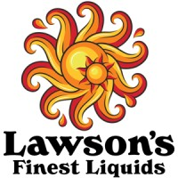 """Lawson's Finest logo with swirling orange, yellow, and red sun, with the words """"Lawson's Finest Liquids"""" below"""